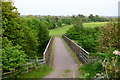 SK3515 : A pedestrian and farm bridge over the A42 by Oliver Mills