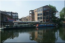 TQ3783 : View of the Plough Cafe from the River Lea towpath #2 by Robert Lamb
