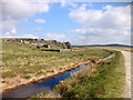 SD9619 : Pennine Way, Cow's Head Drain and Cow's Mouth Quarry by David Dixon