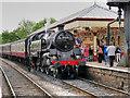 SD7916 : Steam Train at Ramsbottom Station by David Dixon