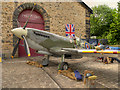 SD8010 : Replica Spitfire outside Bury Transport Museum by David Dixon