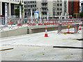 SJ8397 : St Peter's Square Tram Stop Under Construction (June 2016) by David Dixon