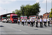 SD7807 : Radcliffe Band on Water Street by David Dixon