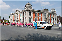 SD7807 : Majorettes Outside the Old Town Hall by David Dixon