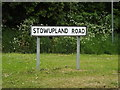 TM0559 : Stowupland Road sign by Adrian Cable