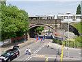 SD7807 : Spring Lane Metrolink Bridge by David Dixon
