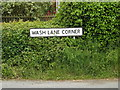 TM0358 : Wash Lane Corner sign by Adrian Cable