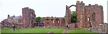 NU1241 : Ruins of Lindisfarne Priory by Len Williams