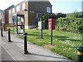 NZ2343 : Elizabeth II postbox and phonebox on Auton Stile, Bearpark by JThomas