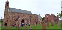 NU1241 : St Mary's Church, Lindisfarne by Len Williams