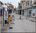 SW6941 : Fore Street Pedestrian Zone sign, Redruth by Jaggery