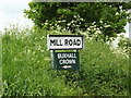 TM0057 : Mill Road sign by Geographer