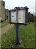 TL9759 : St.Nicholas's Church Notice Board by Adrian Cable