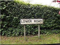 TL9759 : Lower Road sign by Adrian Cable