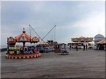 TQ8109 : Fair Rides, Hastings Pier by Chris Whippet