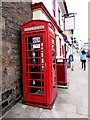 SW6942 : Red phonebox at the edge of the Red Lion, Redruth by Jaggery