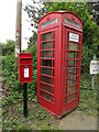 TL9568 : St.George's Road Postbox & Telephone Box by Geographer