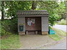 TL9568 : Bus Shelter on St.George's Road by Geographer