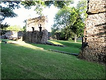 H8744 : The ruined walls of Armagh's Franciscan Friary by Eric Jones
