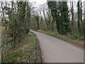 TG1139 : Minor road, Lower Bodham by Hugh Venables