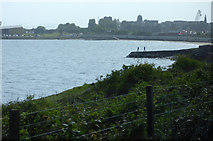 NT2486 : The old pier and Burntisland by Thomas Nugent