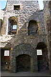 HU4039 : West end of Scalloway Castle from the floor of the Great Hall by Mike Pennington
