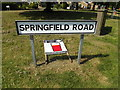 TM0848 : Springfield Road sign by Adrian Cable