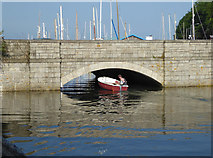 SW7834 : Penryn Bridge at high tide by Chris Allen