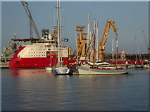 SW8132 : Falmouth Harbour by Chris Allen