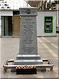 SJ8497 : Piccadilly Station War Memorial: Front face by Gerald England