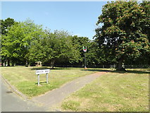 TM0848 : Brook Way & Somersham Village signs by Adrian Cable