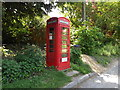 TM0649 : Telephone Box on Castle Road by Adrian Cable