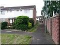 SZ0794 : Ensbury Park: to footpath N34 from Newbury Drive by Chris Downer