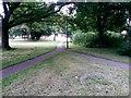 SZ0794 : Ensbury Park: footpath N26 meets paths N31 and N28 by Chris Downer