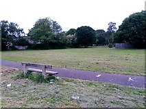SZ0794 : Ensbury Park: footpath N27 across the grass by Chris Downer