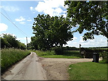 TM0850 : The Lane & footpath by Adrian Cable