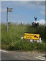 TM0750 : Roadsign off Barking Road by Adrian Cable