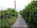 SN4360 : A minor road climbs away from Gilfach-yr-Halen by John Lucas