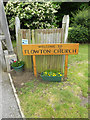 TM0846 : Flowton Church sign by Adrian Cable