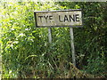 TM1147 : Tye Lane sign by Adrian Cable