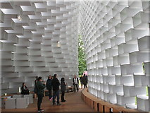 TQ2679 : Serpentine Pavilion 2016, inside view by David Hawgood