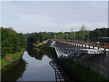 SE2436 : The River Aire from the new road bridge at Kirkstall Forge by Rich Tea