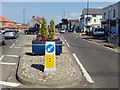 TG1542 : Traffic Island with plants by Peter Holmes