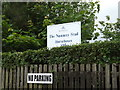 TL8882 : The Nunnery Stud sign by Adrian Cable