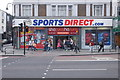 """TQ2983 : """"Sports Direct"""" sports clothing store, Camden Town by Julian Osley"""