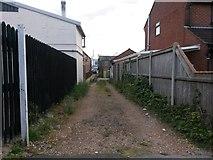 SZ0894 : Winton: footpath L01 to Wimborne Road by Chris Downer