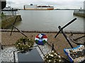 TQ6474 : Container ship at Gravesend by Marathon