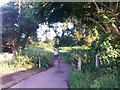 SZ0796 : Kinson: footpath E48 from Kitscroft Road by Chris Downer