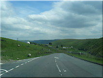 SD8923 : A681 Bacup Road nears The Astronomy Centre by Colin Pyle