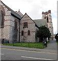 SH8578 : Eastern entrance to St Paul's Church, Colwyn Bay by Jaggery